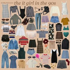 From retro, vintage, and modern. All these kind of styles can perfectly fit in this incredible era, and nowadays too. Retro Outfits, Vintage Outfits, Mode Outfits, Grunge Outfits, 1990s Fashion Outfits, Hipster School Outfits, 1990s Fashion Trends, Nineties Fashion, Aesthetic Vintage