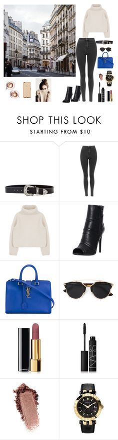 """Untitled #44"" by natalieordnz on Polyvore featuring B-Low the Belt, Pierre Balmain, Yves Saint Laurent, Christian Dior, Chanel, NARS Cosmetics, Versace and Martha Stewart"