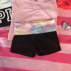 Like New- PINK Yoga Short No flaws or fading PINK Victoria's Secret Shorts