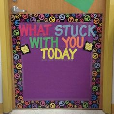 what stuck with you today -End of the year (KWL) or at the end of each lesson or unit