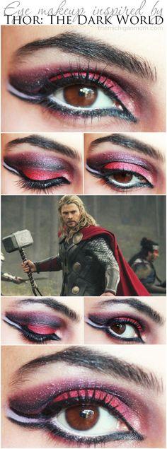 Dramatic Eye Makeup Inspired by Thor: The Dark World via The Michigan Mom. #ThorDarkWorld #Makeup #Beauty