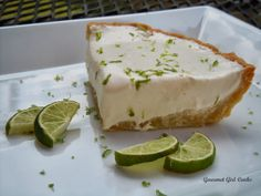 Gourmet Girl Cooks: Key Lime Pie w/ Almond Coconut Crust (Made with GGC's Sweetened Condensed Coconut Milk)