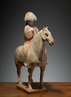 Cavalière, Chine, Dynastie des Tang (618 – 907), 8° siècle