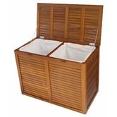 $249.00 Found it at Wayfair - Spa Teak Large Double 2 Section Hamper