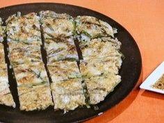 Oyster and green onion chijimi . . .  かきと細ねぎのフワもちチヂミ  2018年1月23日 [NHKきょうの料理]