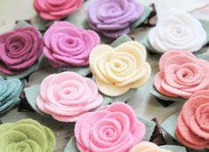 Felt Flower Hair Clip Pick Your Colors Wool Felt Rose