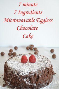 7 minute Eggless Chocolate Cake