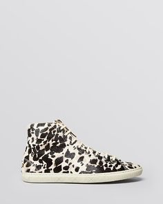 Burberry Lace Up High Top Sneakers - Penford | Bloomingdale's
