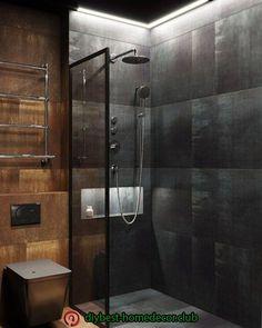 175 bathroom shower modern ideas interior - page 24 > Homemytri. Bathroom Design Luxury, Bathroom Layout, Modern Bathroom Design, Home Interior Design, Interior Plants, Interior Ideas, Bathroom Design Inspiration, Bathroom Styling, Bathroom Lighting