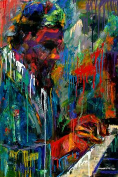 Thelonious Monk oil on canvas