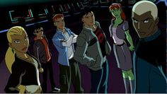 young justice non uniform. I actually love this because it says so much about them all without putting on the costumes.