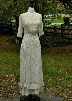 Vintage Antique Edwardian Tea Dress AND Vintage Union Made Hat AMAZING ENSEMBLE | eBay