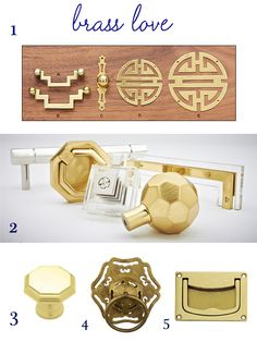 Oh. My. Goodness. The octagon and brass/lucite pulls in the second photo are on my lust list