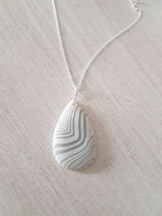 Frosted Agate necklace - white pendant - wire wrapped stone - Healing stones and crystals - crystal jewellery - witchy jewelry - chakra by WishfulWillowCrafts on Etsy