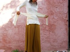 Long sleeves womens top White womens wrap top The Woman by SHIHAR, $89.00