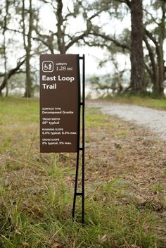 College of Charleston Trail Signage Zoo Signage, School Signage, Signage Board, Wayfinding Signs, Signage Design, Environmental Graphic Design, Environmental Graphics, Navigation Design, Sign System