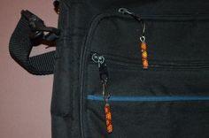 Zipper Pulls. Native American beaded Peyote Stitch zipper pulls