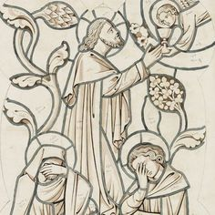 The Agony in the Garden (design for a stained glass window by AWN Pugin from Agony In The Garden, Stained Glass Windows, Garden Design, Christ, Collections, History, Architecture, Wallpaper, Drawings