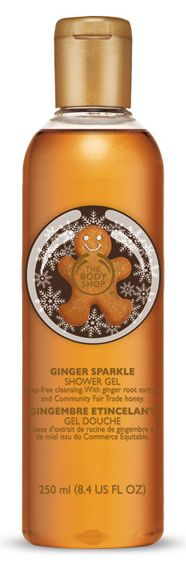 The body Shop Ginger sparkle shower gel. I love the smell of this.