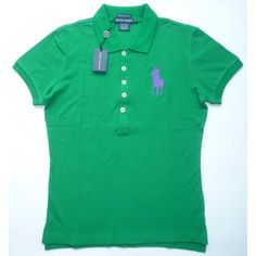 Polo Ralph Lauren Polo Skinny-Fit Big Pony Women's Polo Shirt - Bold Green - Large by Ralph Lauren. $49.99. This embroidered Big Pony lends iconic polish to a skinny, shrunken polo, designed with a longer placket for body-conscious appeal.. Save 49% Off!