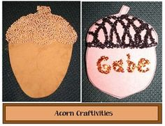 Fall arts and crafts: FREE quick, easy & fun acorn-themed craft activities.