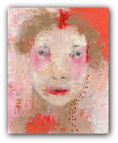 Emerging with Grace Original Painting  Textured Portrait Painting by ChristinaRomeo, $125.00