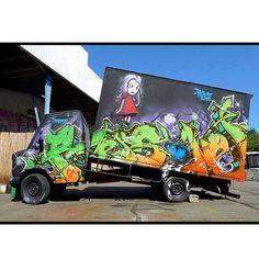 Truck by Reso / globalstreetart.com LOVE GRAFFITI  ART? CHECK  https://www.etsy.com/shop/urbanNYCdesigns?ref=hdr_shop_menu
