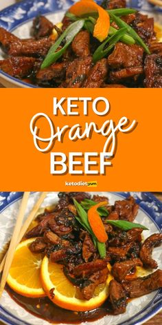 Our Crispy Keto Chinese Orange Beef is the perfect dish when you're craving Chinese takeout! Made fresh with a tangy, sticky and citrusy sauce! Vegetarian Ketogenic Diet, Best Keto Diet, Keto Recipes, Salad Recipes, Vegetarian Recipes, Orange Beef, Carbs In Alcohol, Free Keto Meal Plan, Crispy Beef