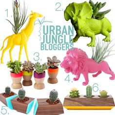 Urban Jungle Bloggers: Creative plant pots - how to dress up your plants | Pinspiration