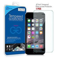 JETech® Vidrio Templado Protector de Pantalla Empaquetado al por Menor para Apple iPhone 5/5S/5C - http://www.tiendasmoviles.net/2015/09/jetech-vidrio-templado-protector-de-pantalla-empaquetado-al-por-menor-para-apple-iphone-55s5c/