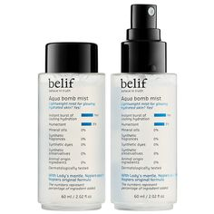 Shop belif's Aqua Bomb Mist at Sephora. This ultra-fine, soft, and lightweight mist hydrates skin for a healthy glow without smudging makeup. Smudged Makeup, Skin Makeup, Banana Powder Makeup, Hydrating Toner, Facial Sunscreen, Mist Spray, Water Spray, Makeup Guide, Makeup Ideas