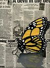 Butterfly on my Newspaper by Cherie Roe Dirksen South African Artists, Print Store, Art Portfolio, Newspaper, Contemporary Art, Abstract Art, My Arts, Butterfly, Book