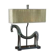 Check out the Uttermost 27907-1 2 Light Tamil Horse Table Lamp priced at $215.60 at Homeclick.com.