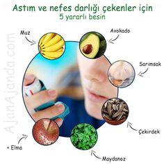 #Astım ve #nefes darlığı çekenler için 5 yararlı besin