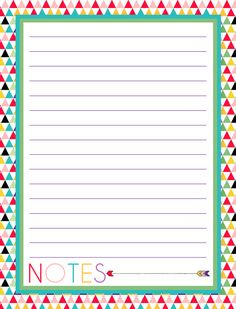i should be mopping the floor: Free Printable Notes Pages