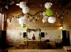 hops and lavender theme private wedding dj booth disguise!