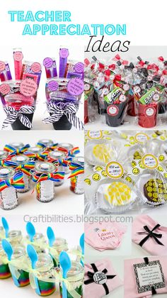 Teacher Appreciation Gifts - If anyone deserves a gift, it's a teacher! For Teacher or Family Teacher Appreciation Gifts Craft Gifts, Diy Gifts, Teacher Treats, Easy Teacher Gifts, Teacher Presents, Teacher Gift Baskets, Just In Case, Just For You, School Gifts