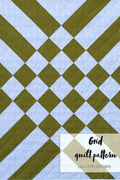 Modern and bold 2 colour quilt design. Minimalist quilt pattern by Lou Orth Designs