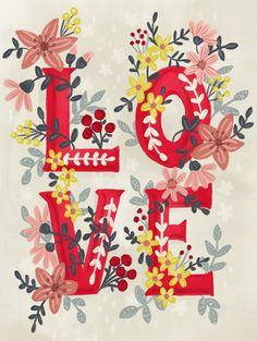 Floral Illustrations, Graphic Design Illustration, Illustration Art, Valentines Day Clipart, Valentines Art, Mahal Kita, Valentines Illustration, Guache, Letter Art