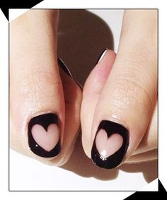 Perfect nails for Valentines day.