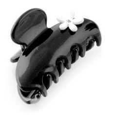 Moliabal Milano Medium Hair Claw- Black With White Floral Design Hair Claw, Medium Hair Styles, Floral Design, Black And White, Fashion, Moda, Black N White, Fashion Styles, Mid Length Hairstyles
