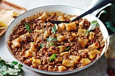 Warm up winter nights with our clever white bean gnocchi with lamb ragu.