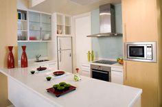 bancada de laminado na cozinha