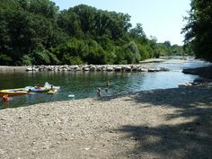 beau rivage st. ambroix mooie camping aan rivier