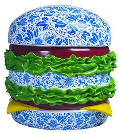 Song Wei, Hamburger, 2008, fibreglass sculpture, 80 x 80 x 80cm. From the exhibition 30 Degrees, curated by Brian Wallace (Red Gate Gallery, Beijing) and George Michell (Studio Rouge, Shanghai).