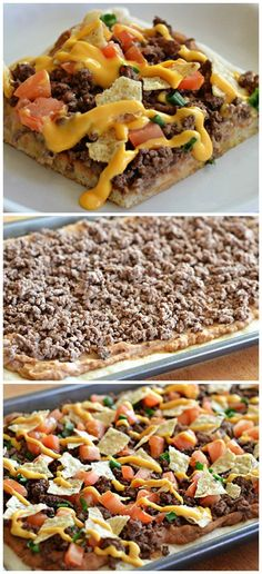 Nacho Supreme Pizza How-To ~ Everything you love about pizza, tacos, and nachos in one supreme pizza!