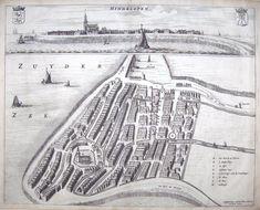 """FRIESLAND - Hindeloopen, """"Hindelopen"""" map by Sjoerd A. Haackma, Sytse Gravius, 1664"""