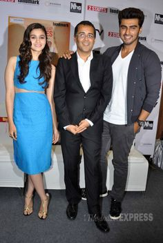 Alia Bhatt and Arjun Kapoor are super busy with the promotions of '2 States' seen at the unveiling of the new cover of the Chetan Bhagat novel. #Style #Bollywood #Fashion #Handsome #Beauty