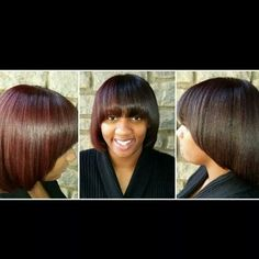 DualityRed side by side color #gkhair