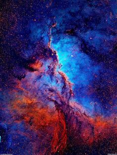 """Emission Nebula NGC 6188: NGC 6188 is an emission nebula located about 4,000 light years away in the constellation Ara. The bright open cluster NGC 6193, visible to the naked eye, is responsible for a region of reflection nebulosity (clouds of interstellar dust which reflect the light of a nearby star or stars) within NGC 6188. http://en.wikipedia.org/wiki/NGC_6188"""